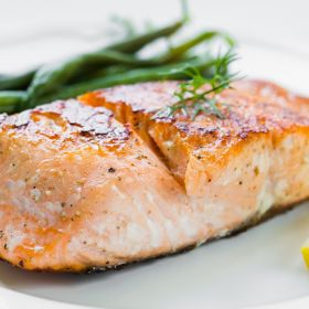 Grilled Salmon with Citrus Dressing