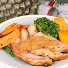 Baked Ham with Pineapple Chutney